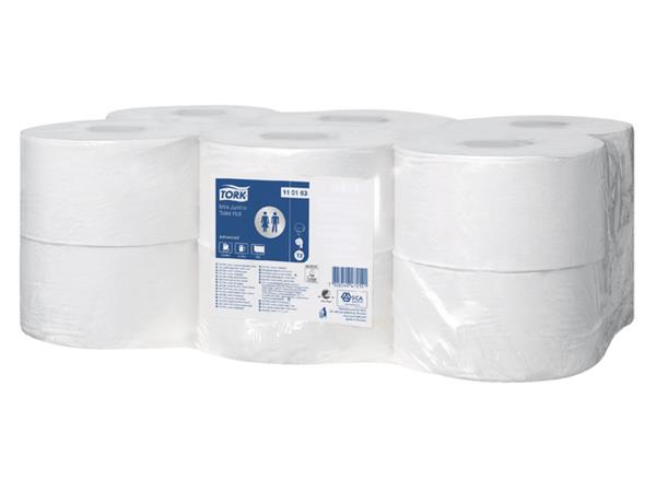 TOILETPAPIER TORK T2 MINI JUMBO 1LAAGS 240M ADVANCED 110163