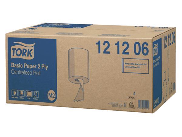 Poetsrol Tork M2 121206 2laags 20cmx160m wit 6rollen