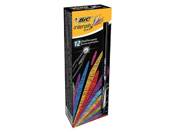 Fineliner Bic Intensity 0.4mm zwart