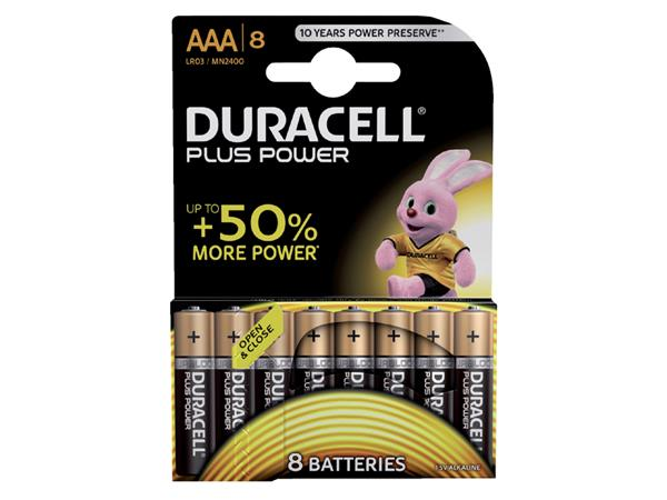 BATTERIJ+DURACELL+AAA+PLUS+POWER+50%25+ALKALINE