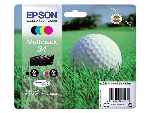 Inktcartridge Epson 34 T3466 zwart + 3 kleuren