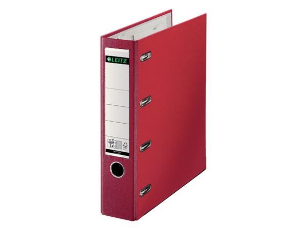 Bankordner Leitz A4 80mm 2 mechanieken rood
