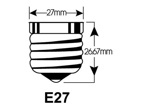 LEDLAMP INTEGRAL E27 4W 2700K WARM WIT