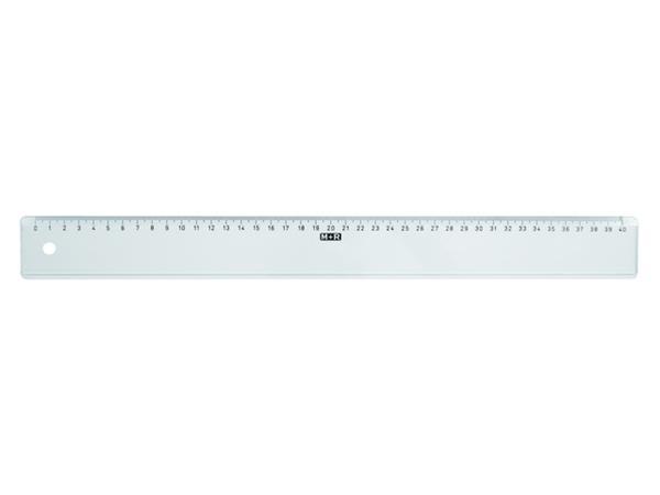 LINIAAL M&R 1140/000 PLASTIC 40CM TRANSPARANT