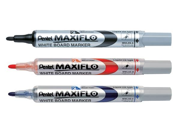 VILTSTIFT PENTEL MWL5 WHITEBOARD MAXIFLO 1MM ZWART