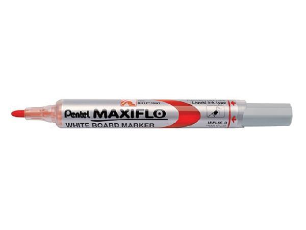 VILTSTIFT PENTEL MWL5 WHITEBOARD MAXIFLO 1MM ROOD