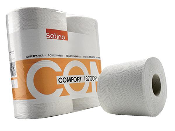 Toiletpapier Satino Smart 2-laags 400vel wit 4rollen