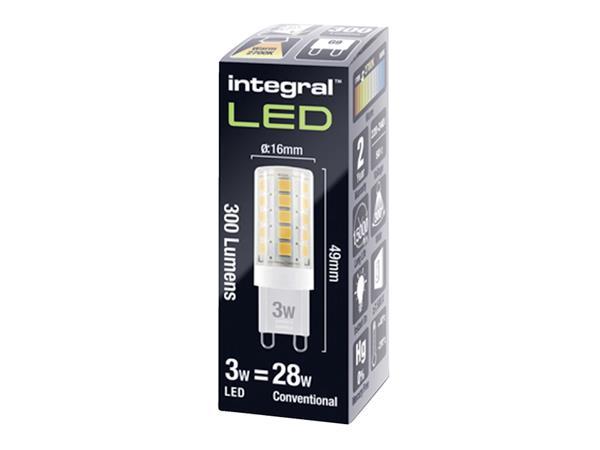 LEDLAMP INTEGRAL G9 3W 2700K DIMBAAR WARM WIT