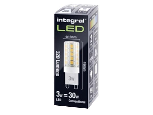 LEDLAMP INTEGRAL G9 3W 4000K DIMBAAR KOEL WIT