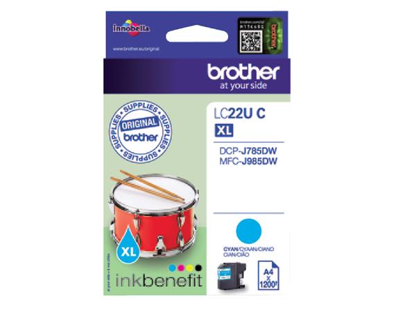 INKCARTRIDGE BROTHER LC-22U BLAUW