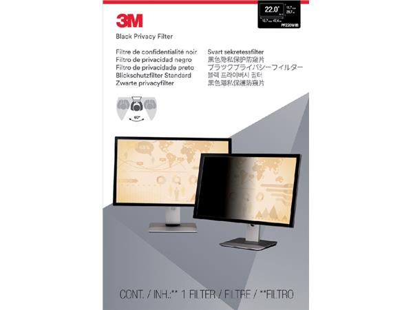 """PRIVACY FILTER 3M 22.0"""" WIDE RATIO 16.10"""