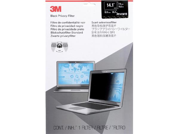 """PRIVACY FILTER 3M 14.1"""" WIDE RATIO 16.10"""