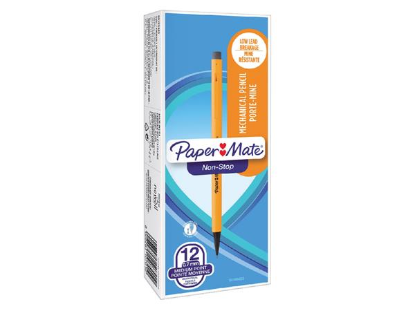 Potlood Paper Mate non stop HB met clip en gum