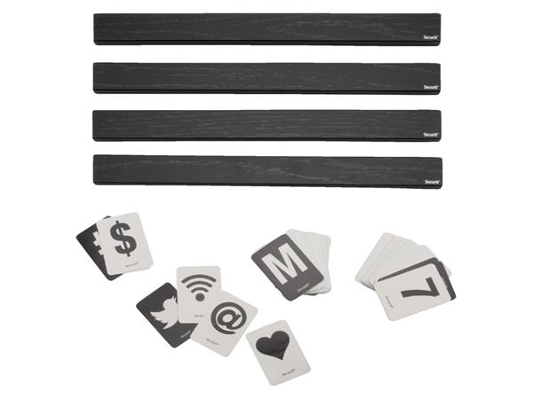 Letterplank Securit 1 meter incl. set letters,cijfers, symbolen