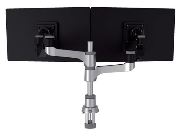 Monitorarm R-Go-Tools Caparo 4 voor 2 beeldschermen zwart-zilver