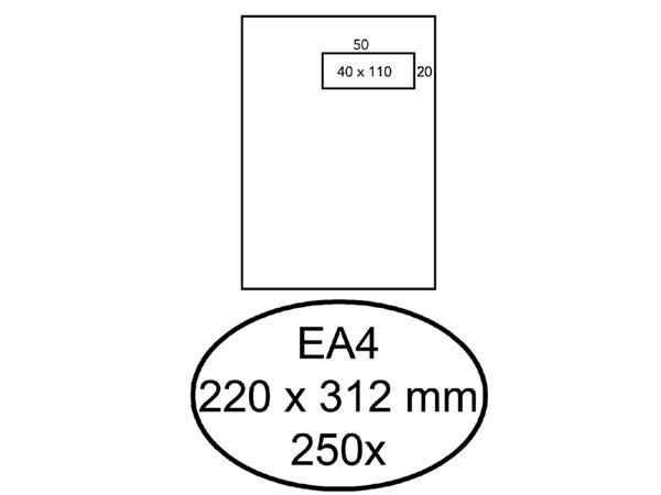 ENVELOP HERMES AKTE EA4 VR 4X11 ZK 120GR 250ST
