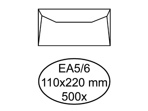 ENVELOP QUANTORE BANK EA5/6 110X220 80GR WIT