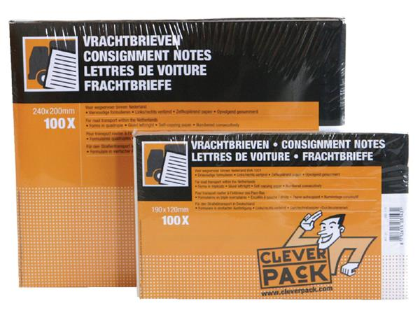 VRACHTBRIEF CLEVERPACK BLANCO 19X12CM 3V