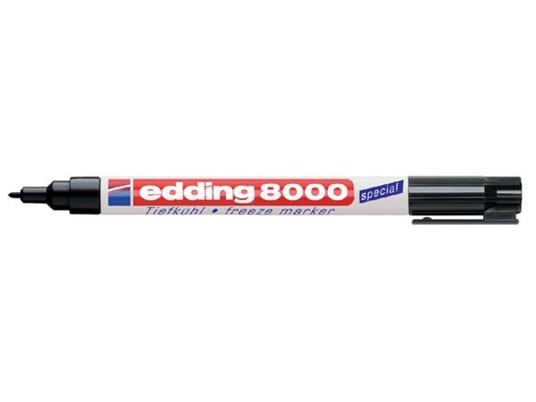 Viltstift edding 8000 diepvries rond zwart 1mm
