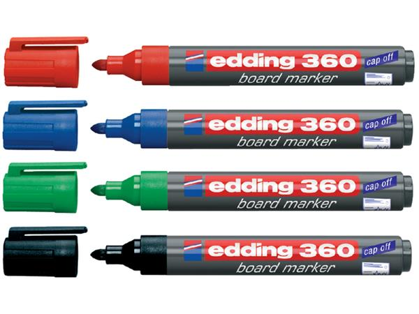 VILTSTIFT EDDING 360 WHITEBOARD ROND 1.5-3MM BLAUW
