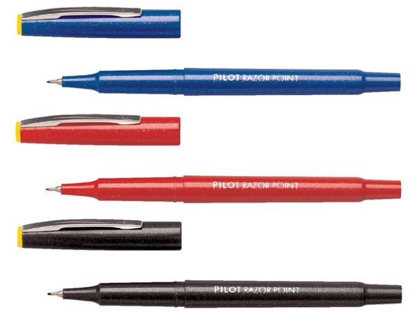 FINELINER PILOT RAZOR POINT SW-10 PP 0.4MM BLAUW