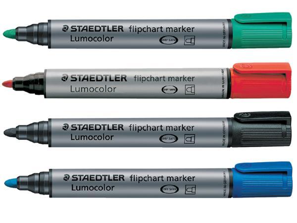 Viltstift Staedtler 356 voor flipover rond 2mm 4 stuks assor
