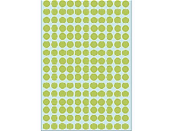 Etiket Herma 2215 rond 8mm groen 5632stuks