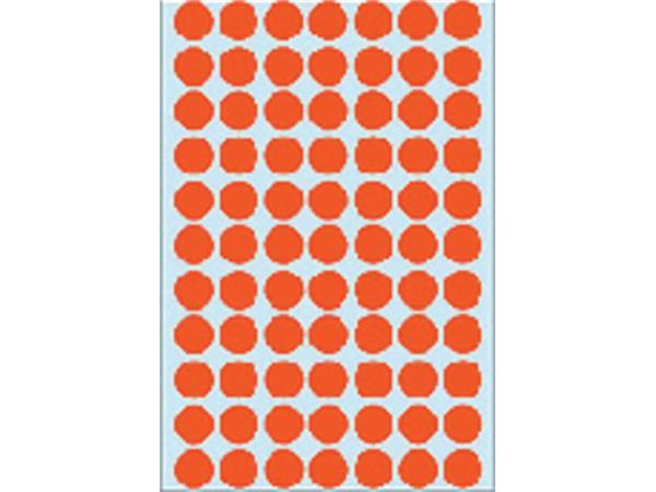 Etiket Herma 2232 rond 13mm rood 2464stuks