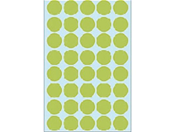 Etiket Herma 2255 rond 19mm groen 1280stuks