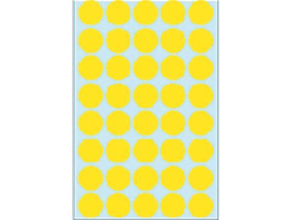 Etiket Herma 2251 rond 19mm geel 1280stuks