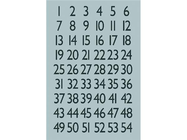 ETIKET HERMA 4134 GETAL 13X12MM ZILVER FOLIE