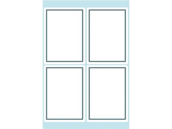 Etiket Herma 5713 40x55mm schrift grijs kader 24stuks