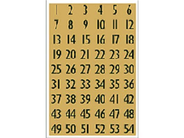 ETIKET HERMA 4146 GETAL 13X12MM GOUD FOLIE