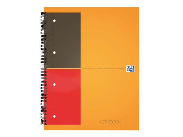 Spiraalblok Oxford International Activebook A4+ gelinieerd
