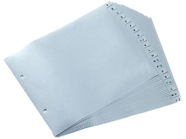 Ordneralfabet Quantore 2-gaats 18x23 PP grijs