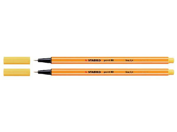 Fineliner STABILO point 88/44 geel