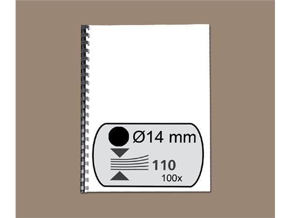 BINDRUG GBC 14MM 21RINGS A4 ZWART