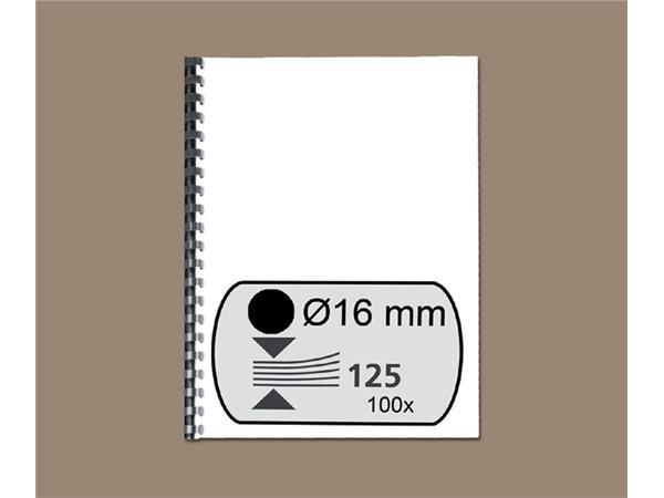 BINDRUG GBC 16MM 21RINGS A4 ZWART