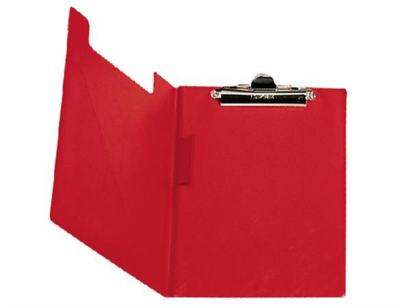 Klembordmap Bantex met klem + penlus rood