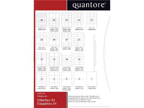 Etiket Quantore 63.5x33.9mm 2400stuks