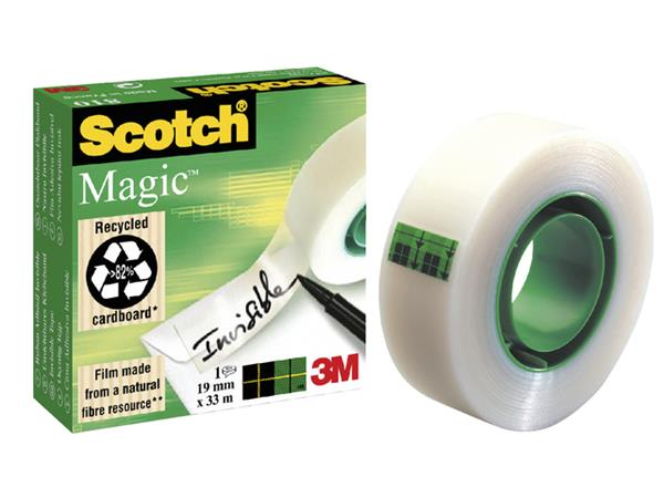 PLAKBAND 3M SCOTCH 810 19MMX33M MAGIC ONZICHTBAAR