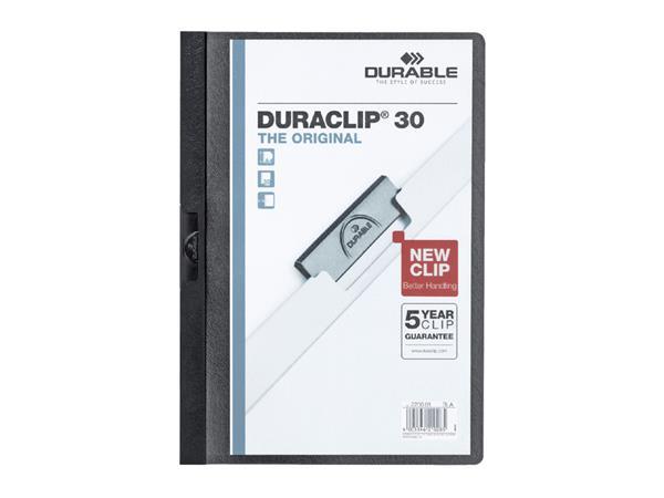 Klemmap Durable 2200 A4 3mm zwart