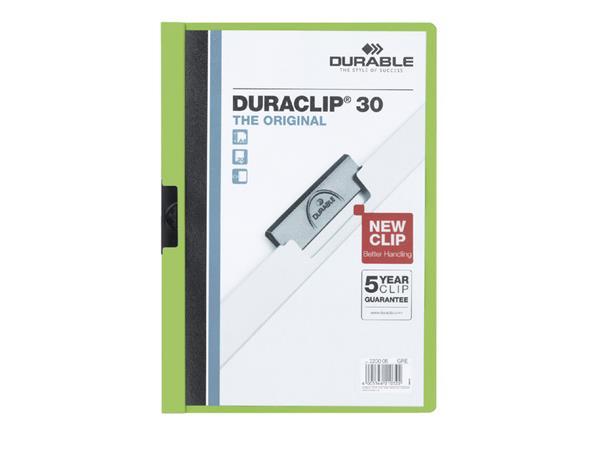 KLEMMAP DURABLE 2200 A4 PL/TR 3MM GROEN