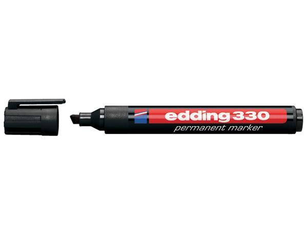 Viltstift edding 330 schuin zwart 1.5-5mm