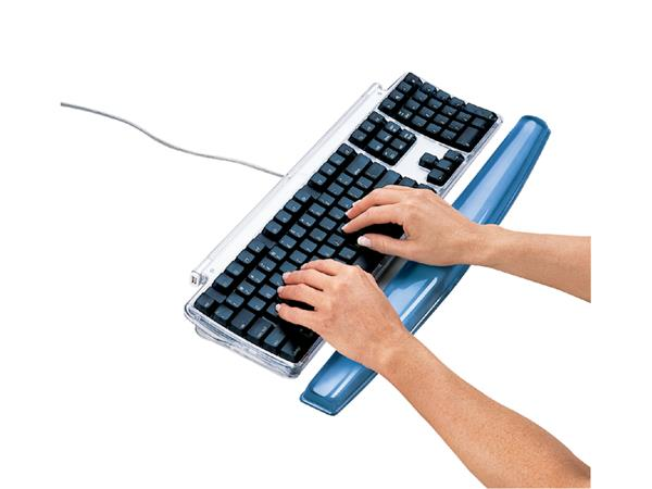 Polssteun toetsenbord Fellowes Crystals gel transparant blauw