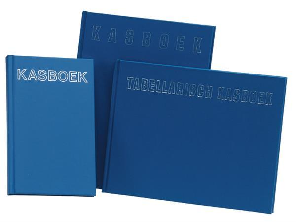 Kasboek tabellarisch 210x160mm 96blz 8 kolommen blauw