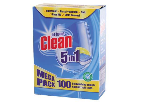 Vaatwastabletten+Clean+All-in-One+100+stuks