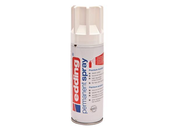 Verfspuitbus edding 5200 permanent spray mat verkeerswit
