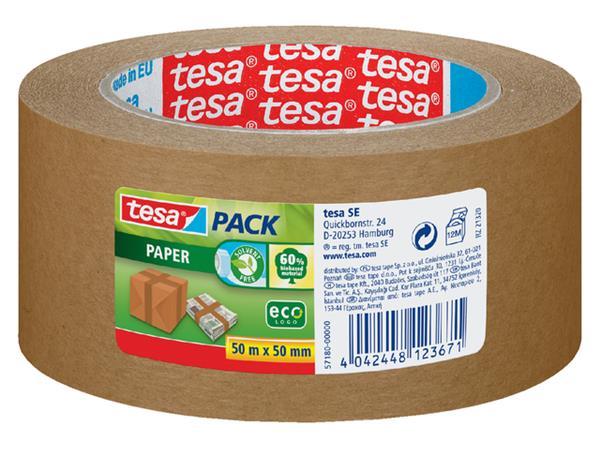 Verpakkingstape Tesa 50mmx50m eco papier