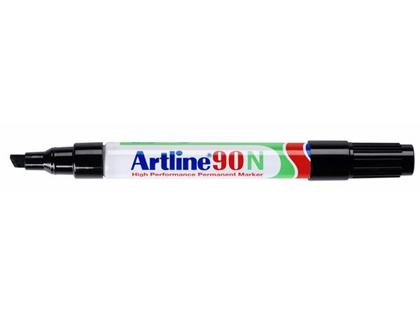 Viltstift Artline 90 schuin 2-5mm zwart